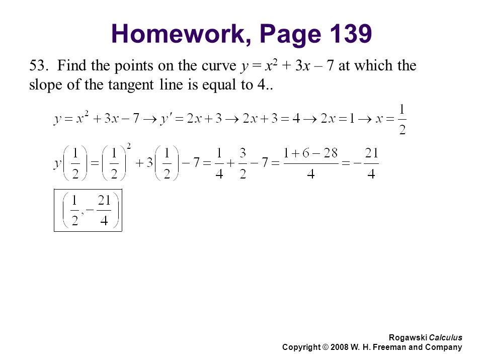 Homework, Page 139 53.