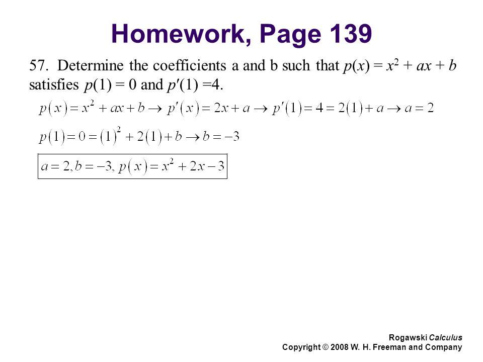 Homework, Page 139 57.