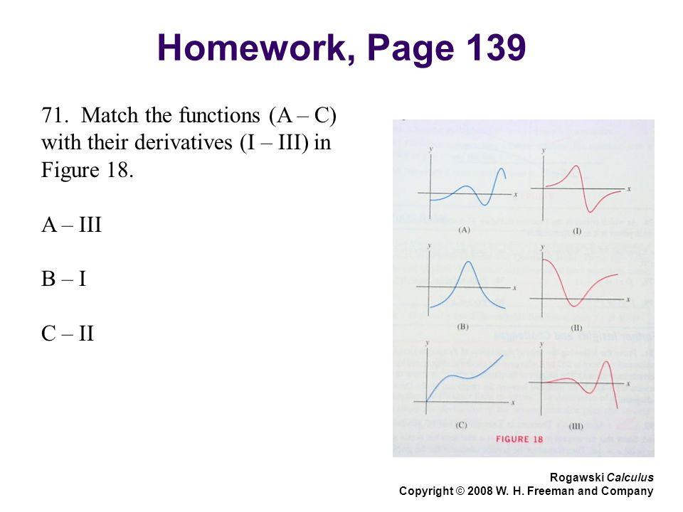 Homework, Page 139 Rogawski Calculus Copyright © 2008 W.