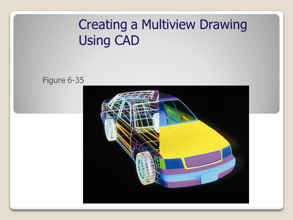 Figure 6-35 Creating a Multiview Drawing Using CAD