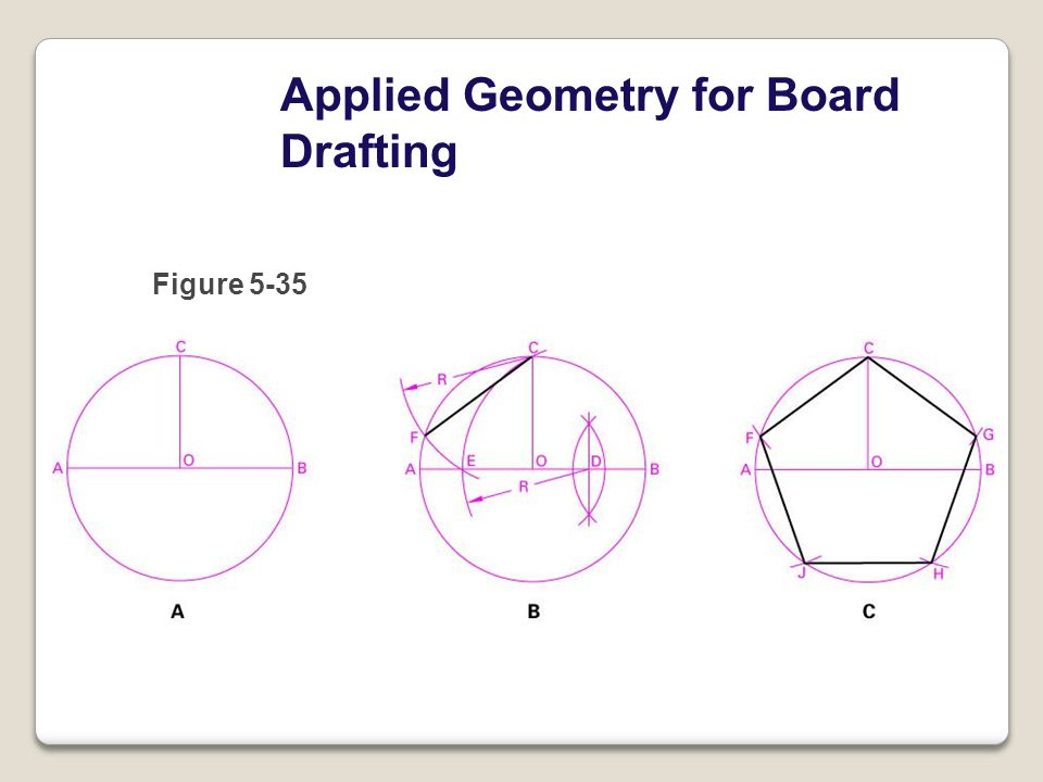 Applied Geometry for Board Drafting Figure 5-35