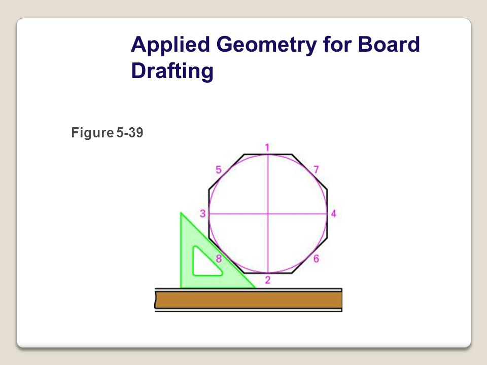 Applied Geometry for Board Drafting Figure 5-39