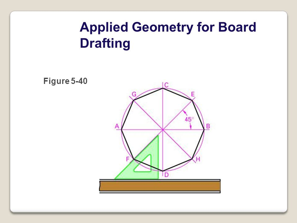 Applied Geometry for Board Drafting Figure 5-40