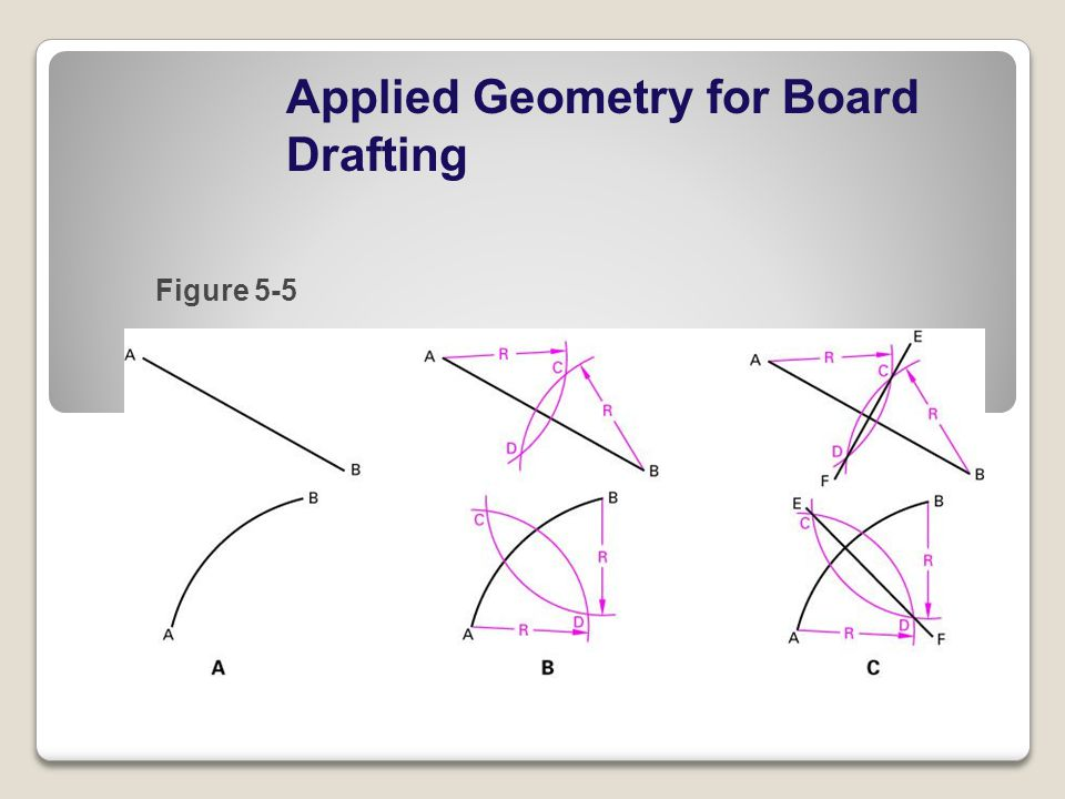 Applied Geometry for Board Drafting Figure 5-5