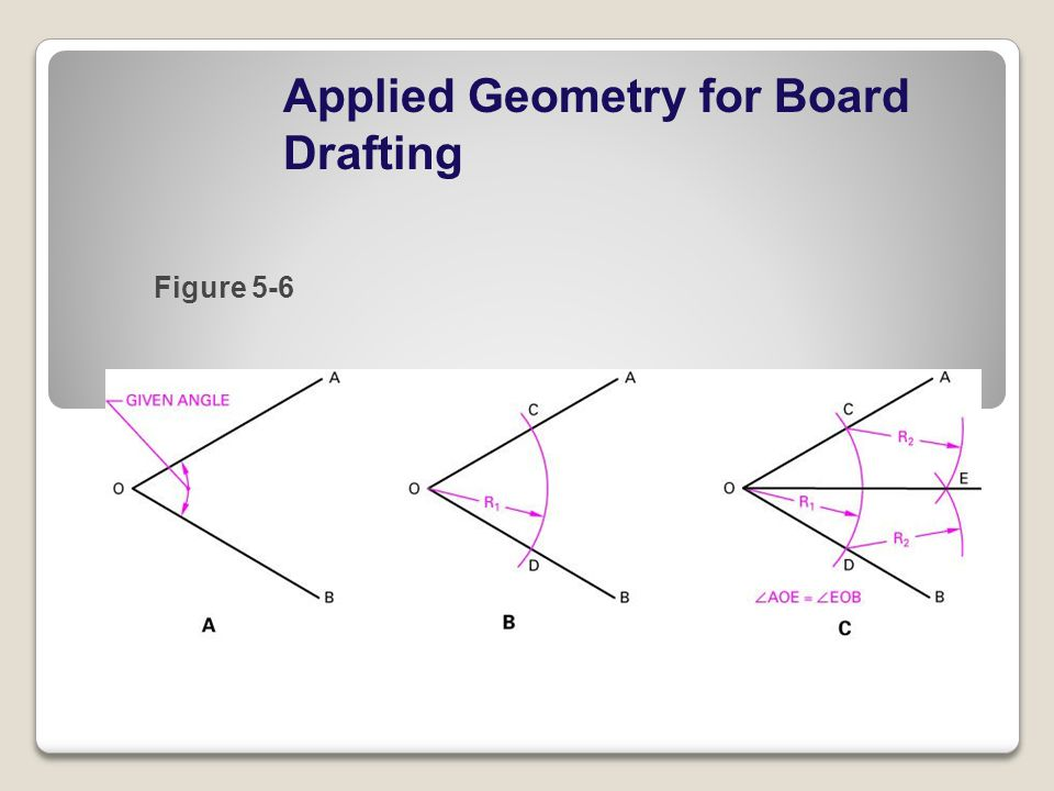 Applied Geometry for Board Drafting Figure 5-6