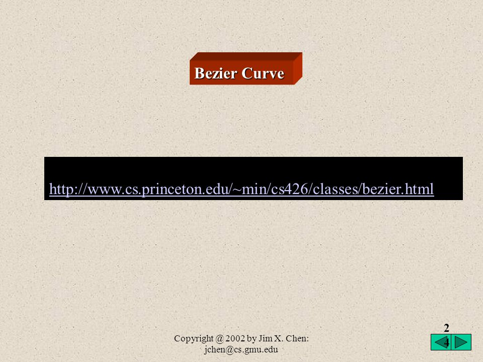 Copyright @ 2002 by Jim X. Chen: jchen@cs.gmu.edu Hermite basis matrix