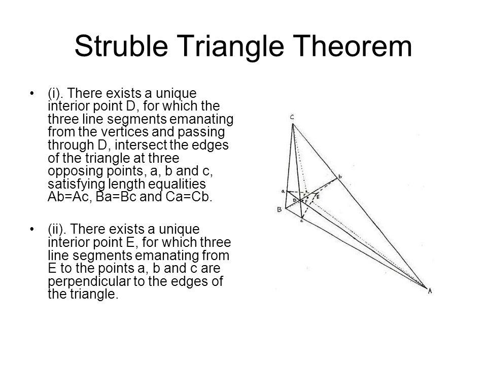 Struble Triangle Theorem (i).