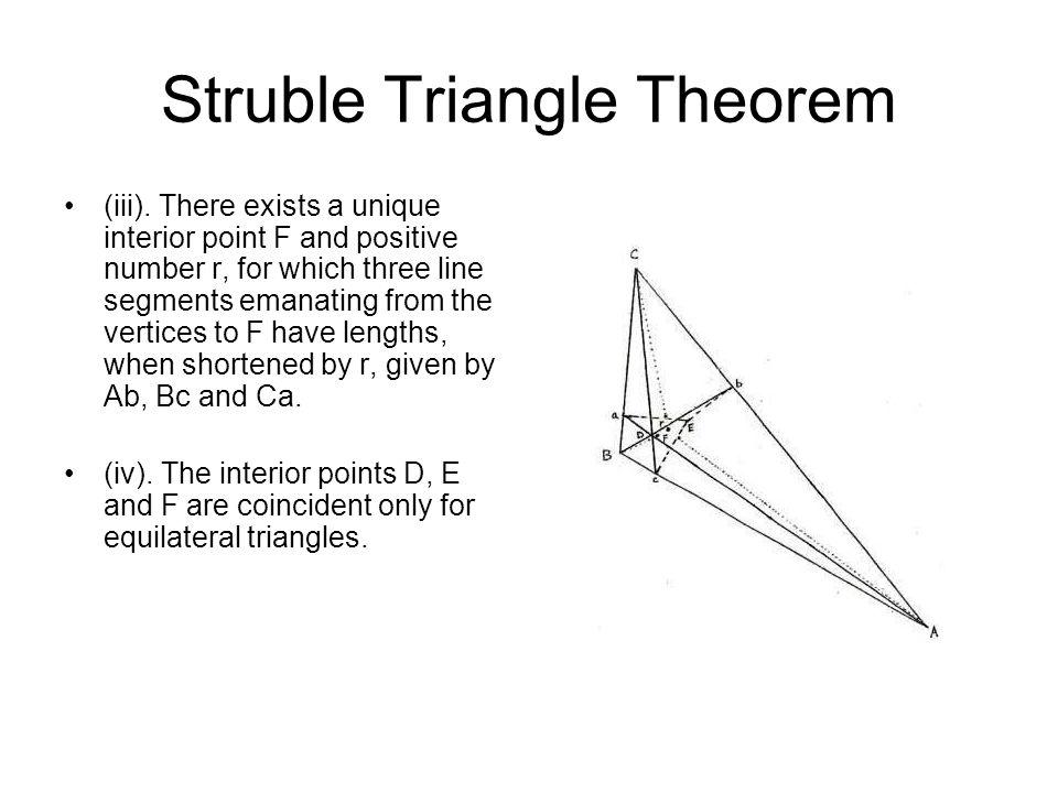 Struble Triangle Theorem (iii).