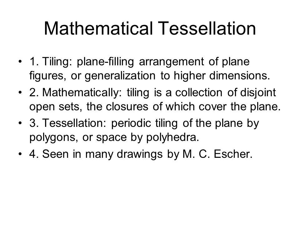 Mathematical Tessellation 1.