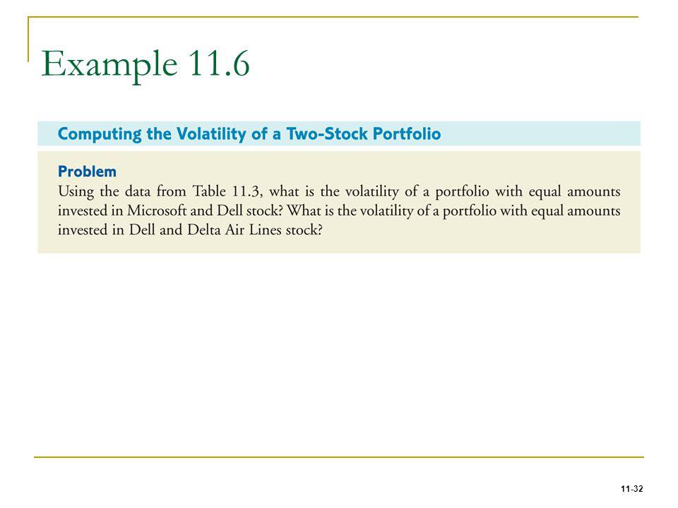 11-32 Example 11.6