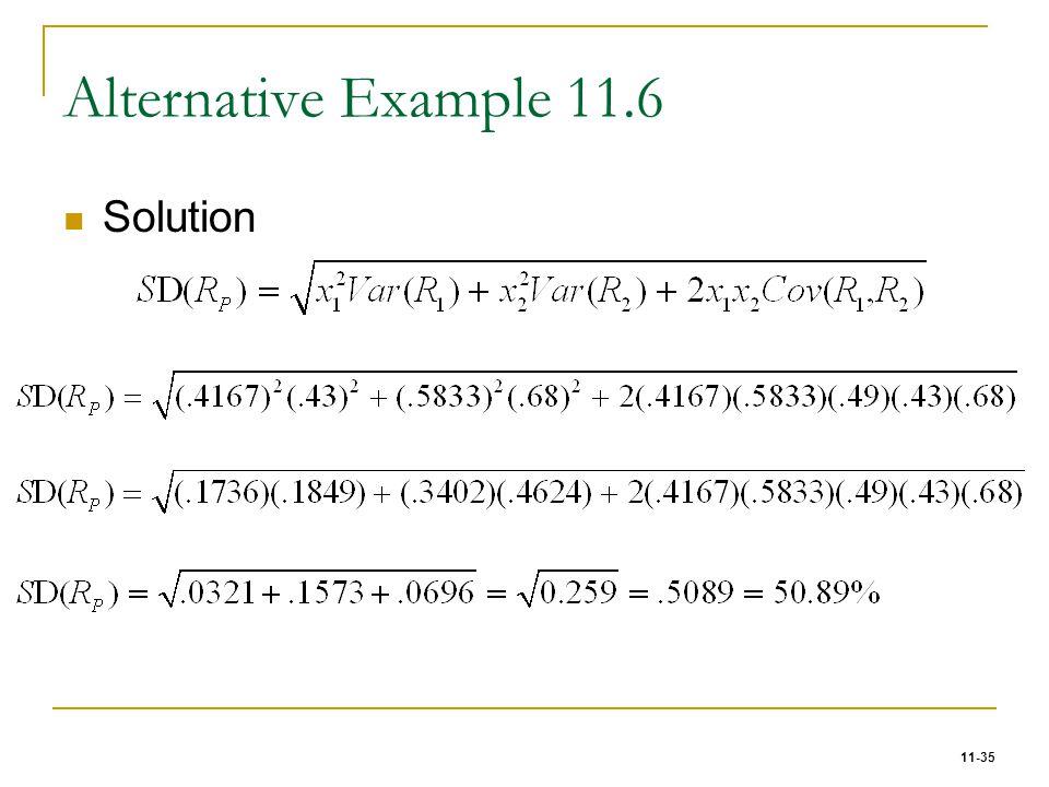 11-35 Alternative Example 11.6 Solution