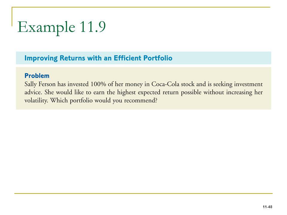 11-48 Example 11.9