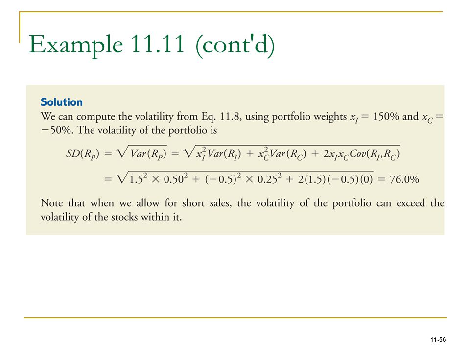 11-56 Example 11.11 (cont'd)