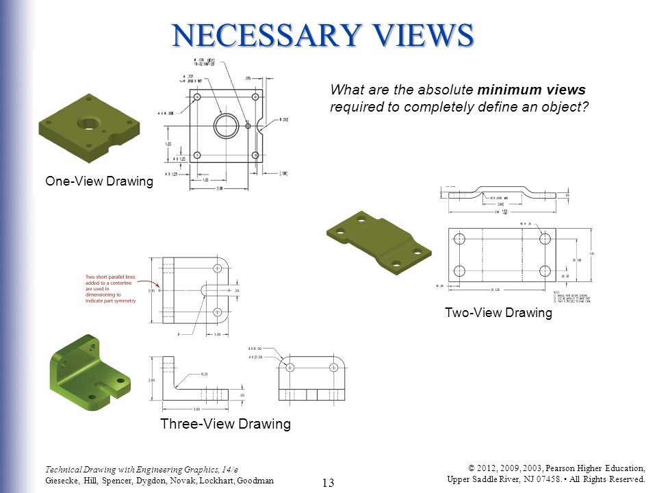 13 Technical Drawing with Engineering Graphics, 14/e Giesecke, Hill, Spencer, Dygdon, Novak, Lockhart, Goodman © 2012, 2009, 2003, Pearson Higher Educ