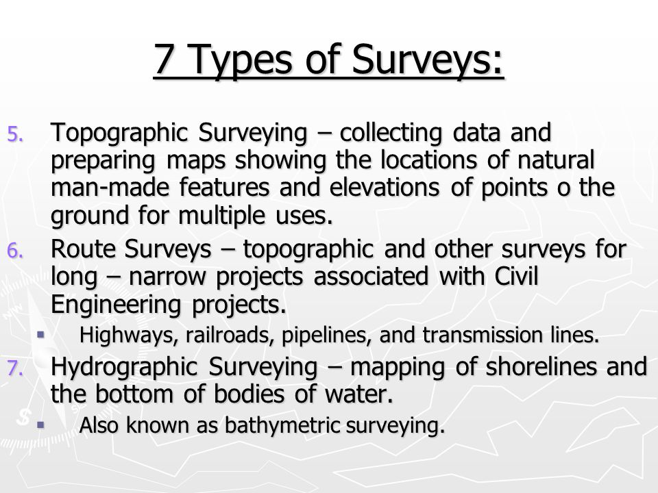 Brief History of Surveying: 1.