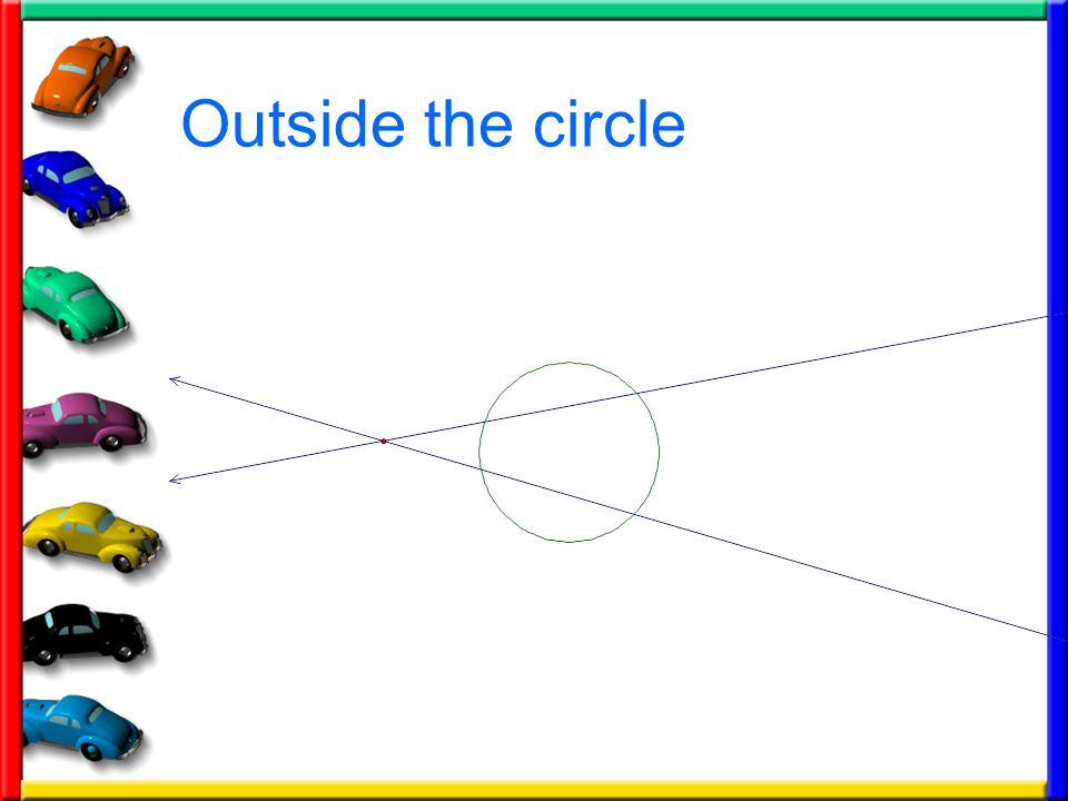 Outside the circle