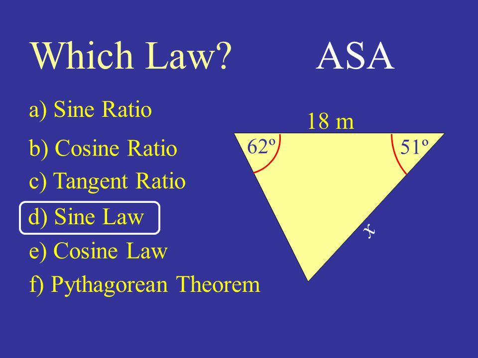 18 m 51º 62º Which Law.