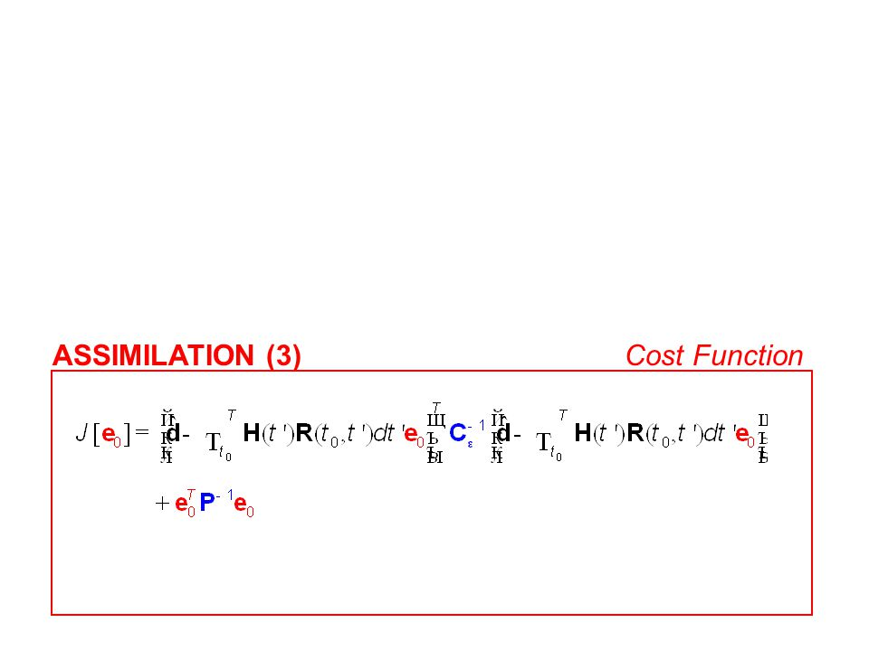 ASSIMILATION (3)Cost Function