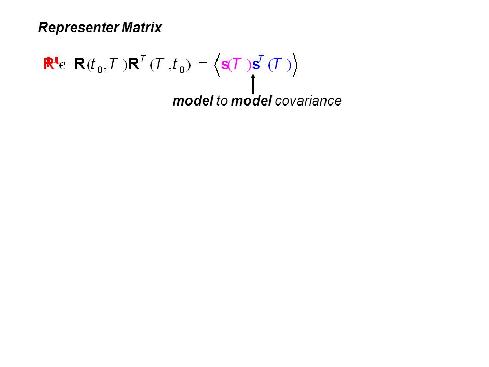 Representer Matrix model to model covariance