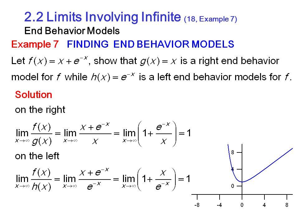 2.2 Limits Involving Infinite (18, Example 7) End Behavior Models