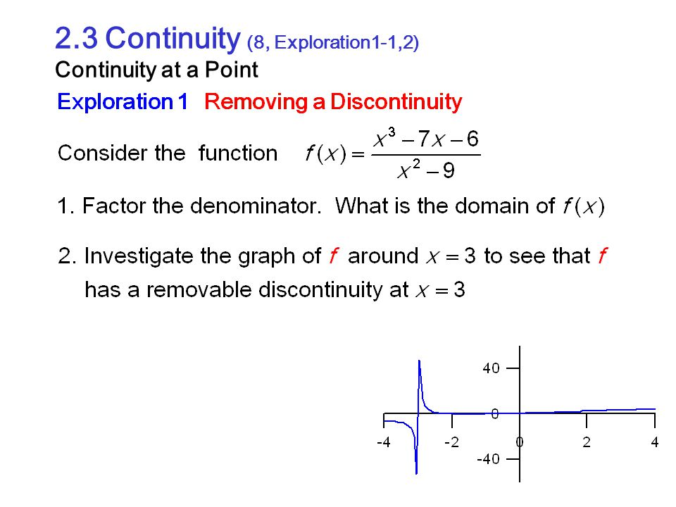 2.3 Continuity (8, Exploration1-1,2) Continuity at a Point