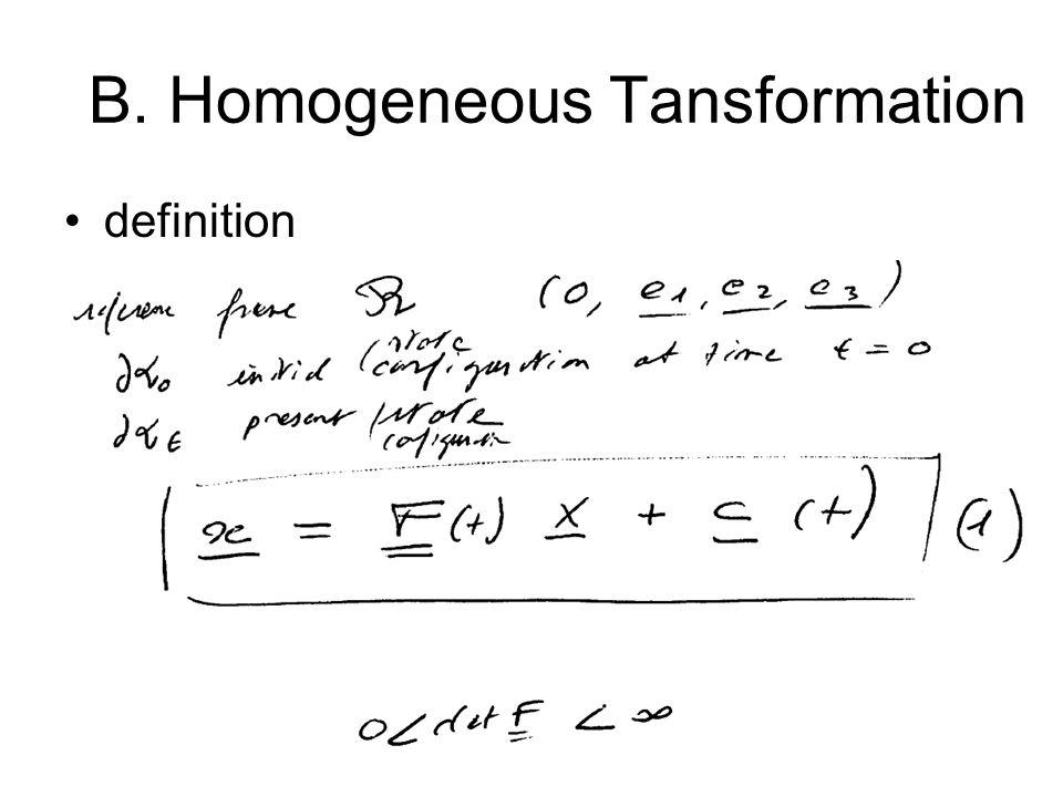 B. Homogeneous Tansformation definition