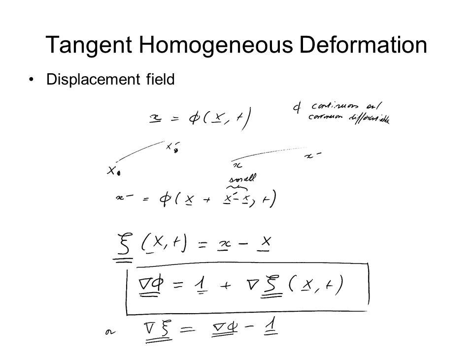 Tangent Homogeneous Deformation Displacement field