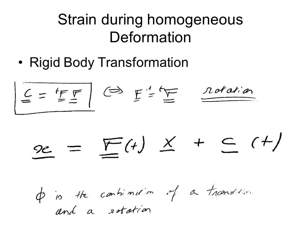 Rigid Body Transformation Strain during homogeneous Deformation