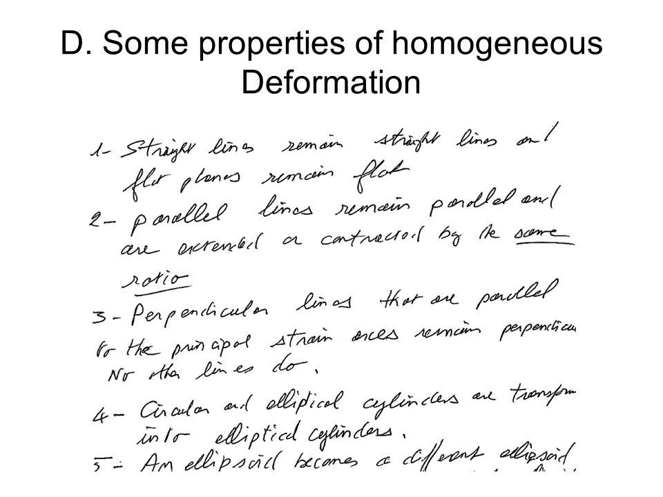 D. Some properties of homogeneous Deformation