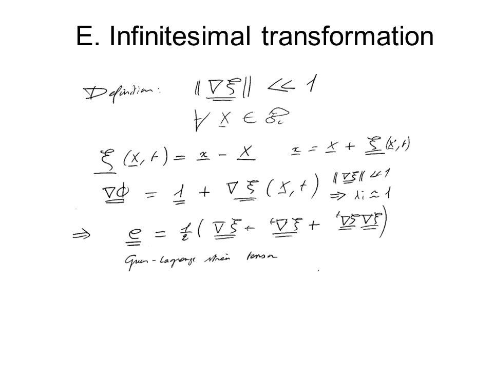 E. Infinitesimal transformation