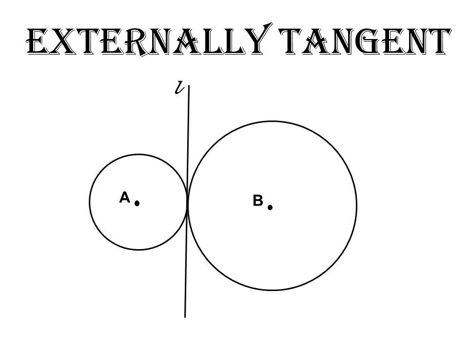 Externally Tangent A B l
