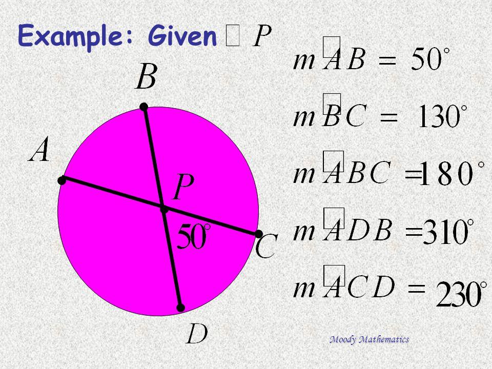 Moody Mathematics Example: Given