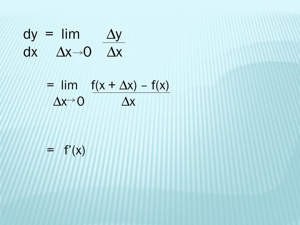 Alternative Form of a Derivative f'(c) = lim f(x) - f(c) x c x - c