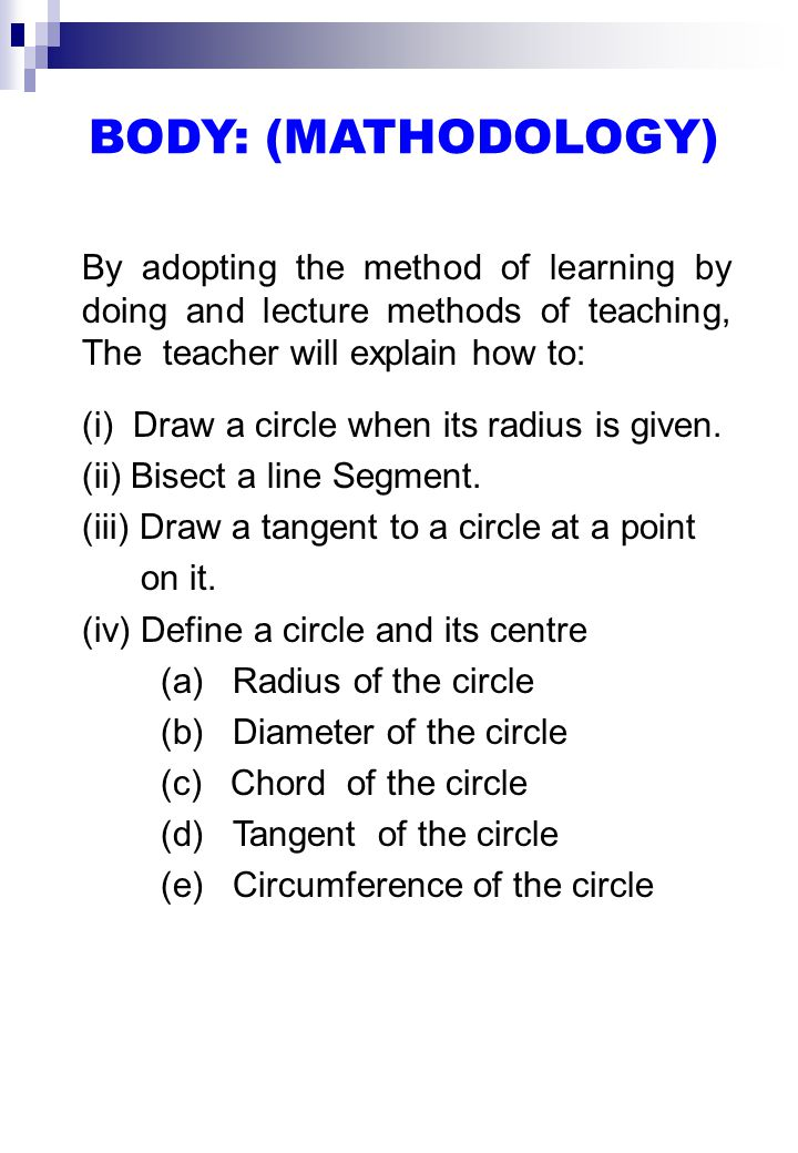 REQUISITES/LINKAGE WITH PREVIOUS TOPIC/LECTURE What is circle.