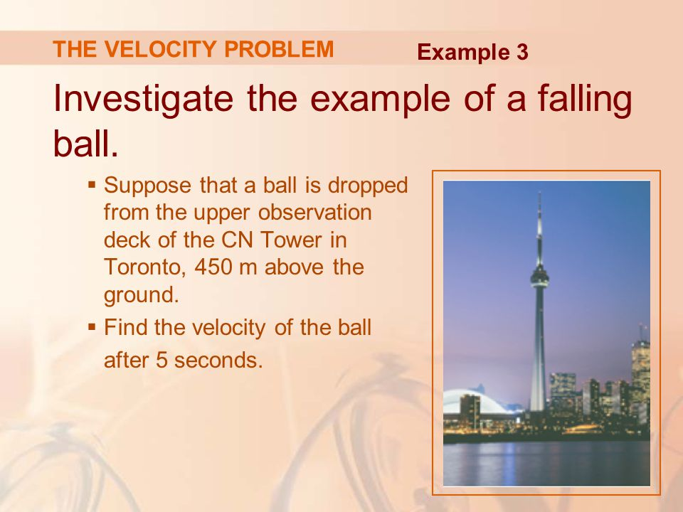 Investigate the example of a falling ball.