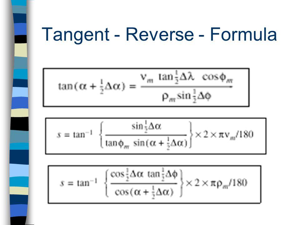 Tangent - Reverse - Formula