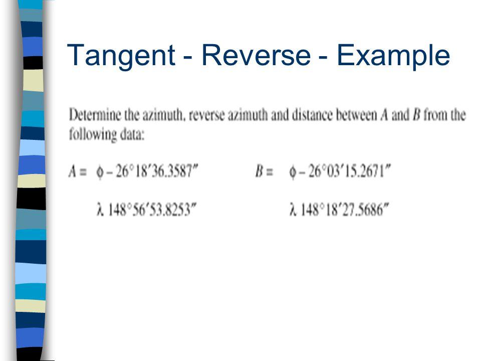 Tangent - Reverse - Example