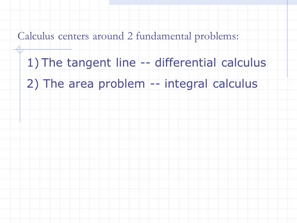 Tangent Line Problem One of the classic problems in calculus is the tangent line problem.