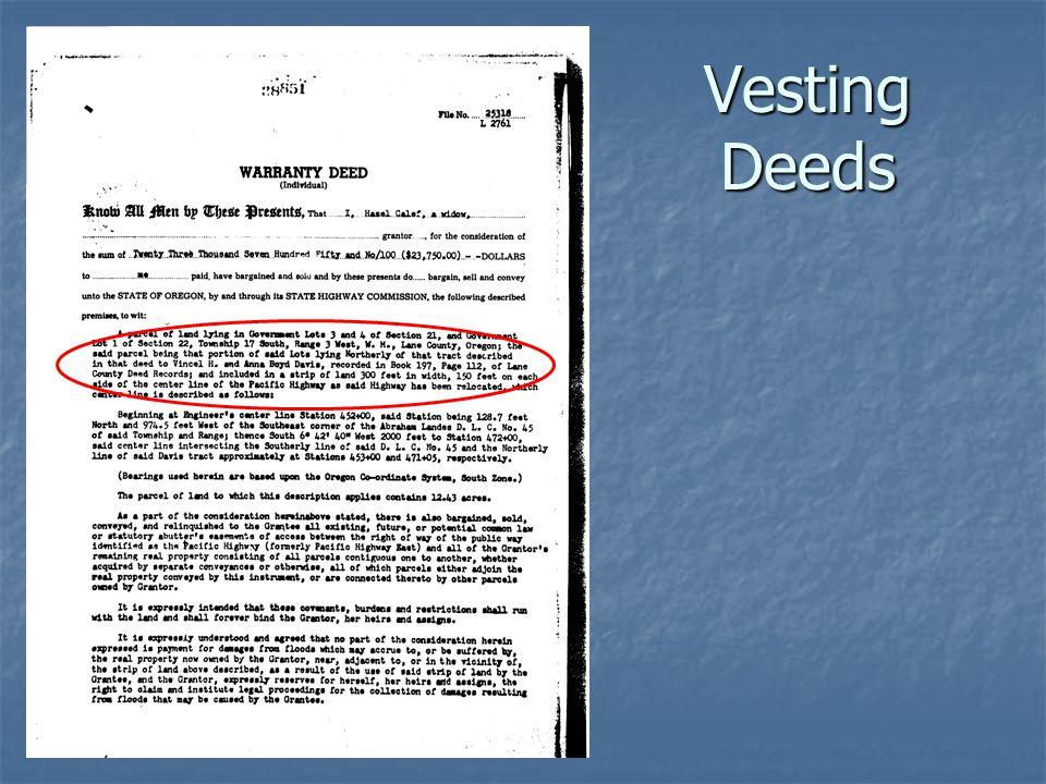 Vesting Deeds