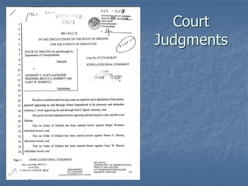 Court Judgments