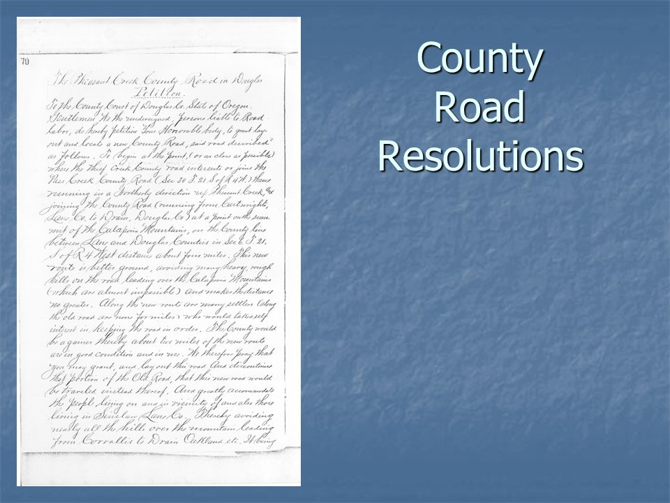 County Road Resolutions