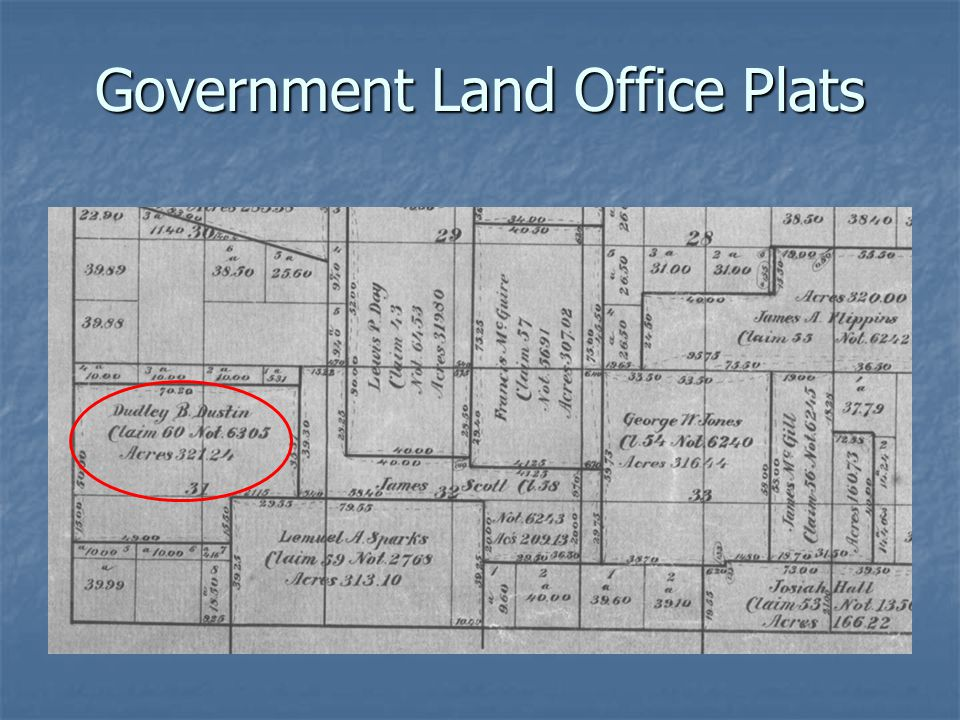 Government Land Office Plats