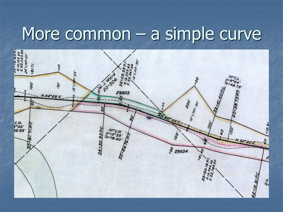 More common – a simple curve