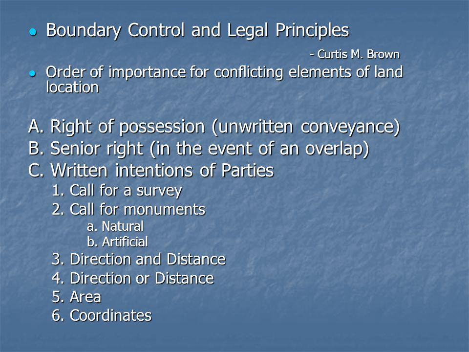 Boundary Control and Legal Principles Boundary Control and Legal Principles - Curtis M.