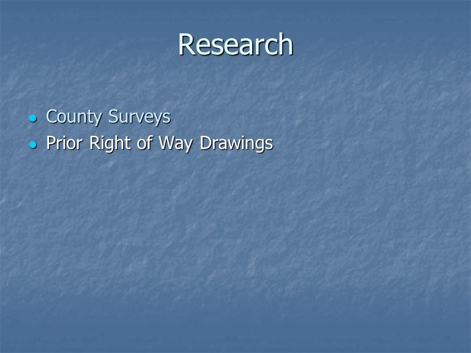 Research County Surveys County Surveys Prior Right of Way Drawings Prior Right of Way Drawings
