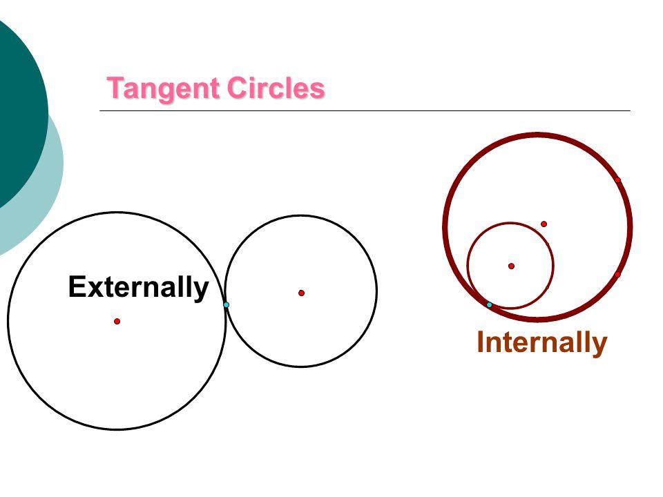Tangent Circles Externally Internally
