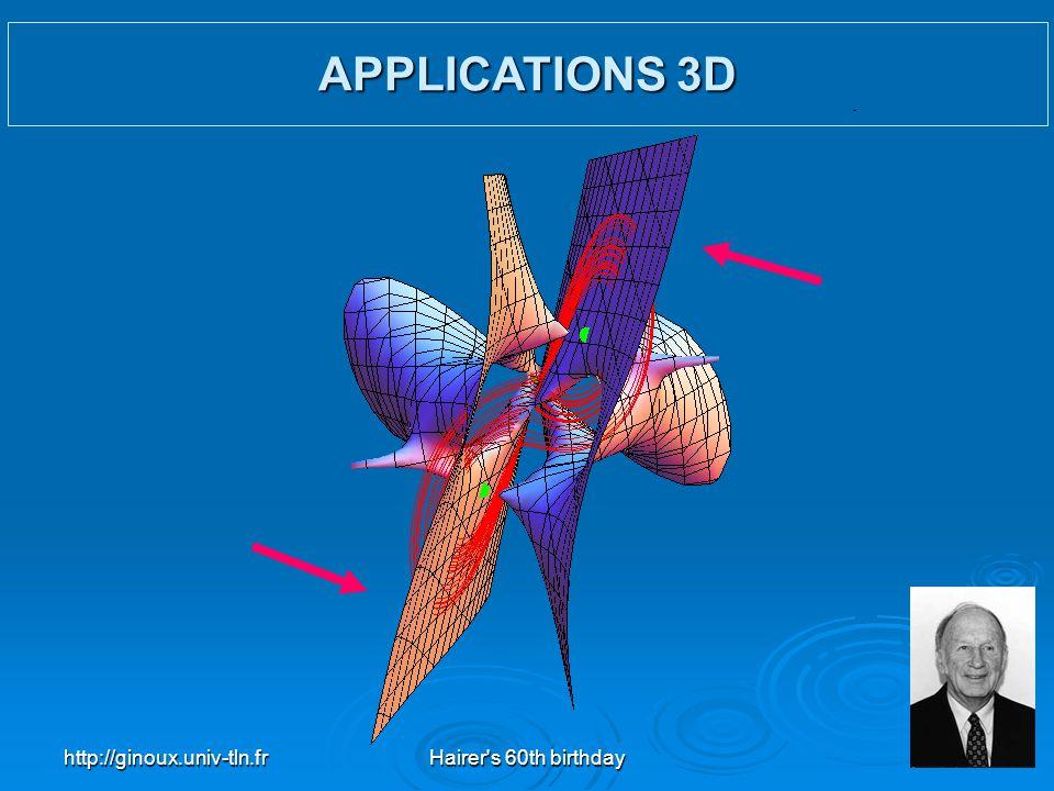 http://ginoux.univ-tln.frHairer's 60th birthday39 APPLICATIONS 3D