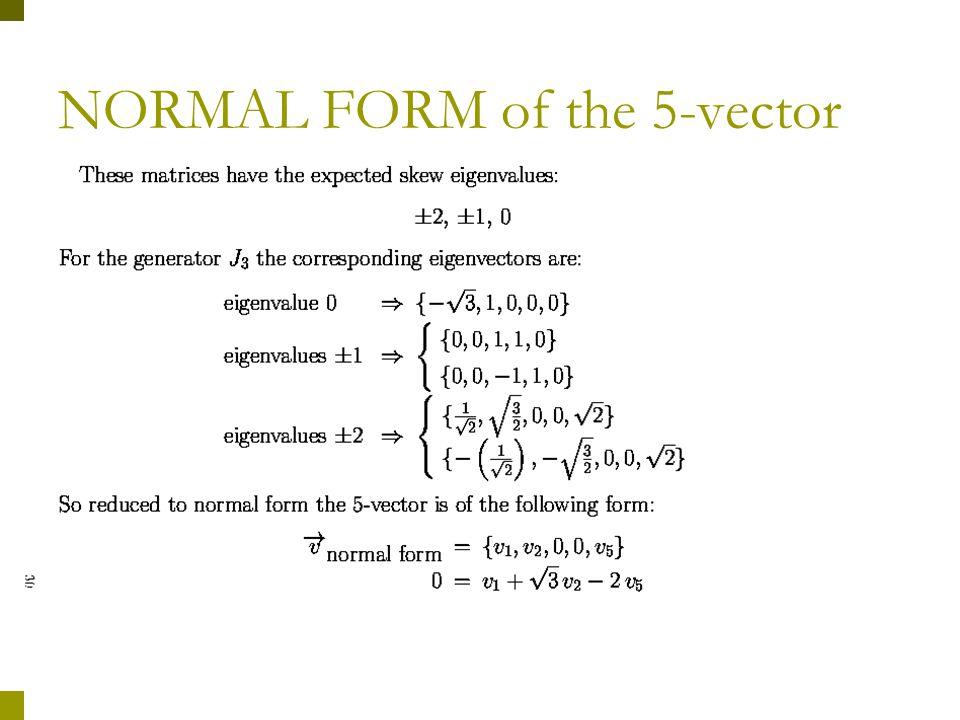 Fixing the normal tangent vector