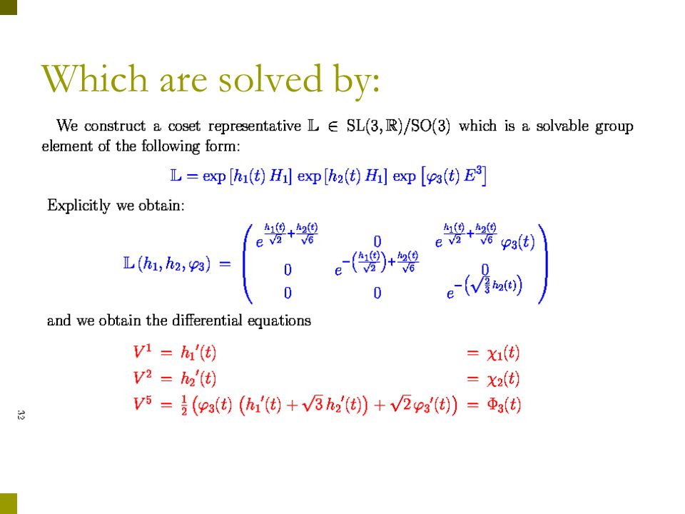 Explicit solution for the tangent vectors