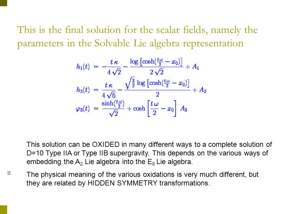 Which are solved by: